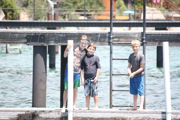 The boys on the dock.